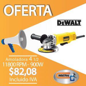 Amoladora 4 1/2 11800 RPM - 900w
